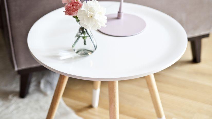 table blanche et bois de style scandinave