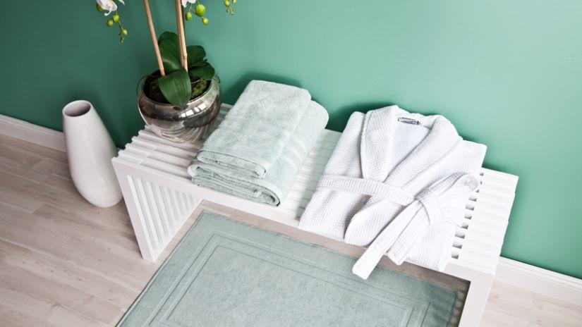 peignoir blanc en coton