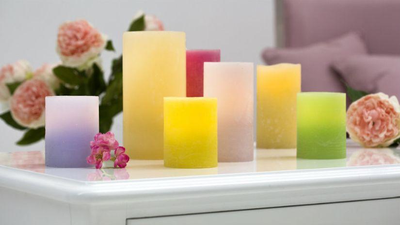 Bougies colorées avec LED