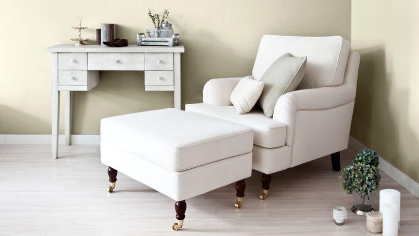Petit meuble console blanc