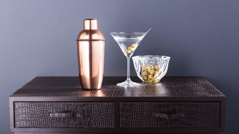Shaker cuivré pour cocktail
