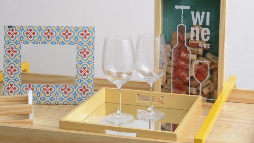 Verres pour vin rouge en verre transparent