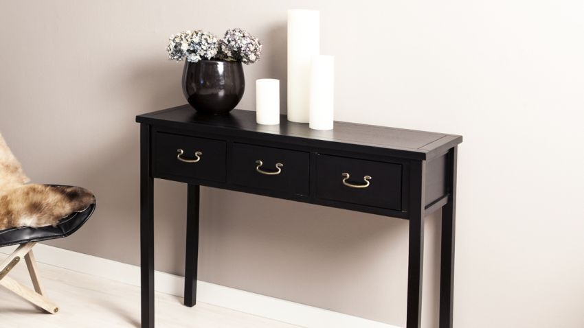 console bois un meuble tout en finesse westwing. Black Bedroom Furniture Sets. Home Design Ideas