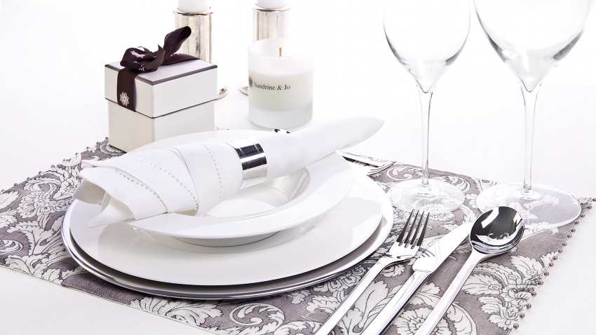 Set de table gris