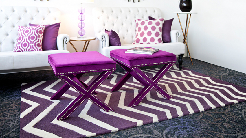 tapis violet offres exclusives sur westwing. Black Bedroom Furniture Sets. Home Design Ideas
