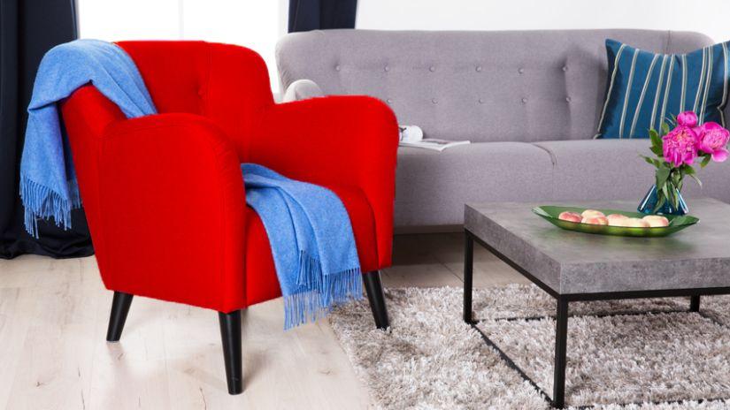 fauteuil rouge westwing le sp cialiste d co. Black Bedroom Furniture Sets. Home Design Ideas