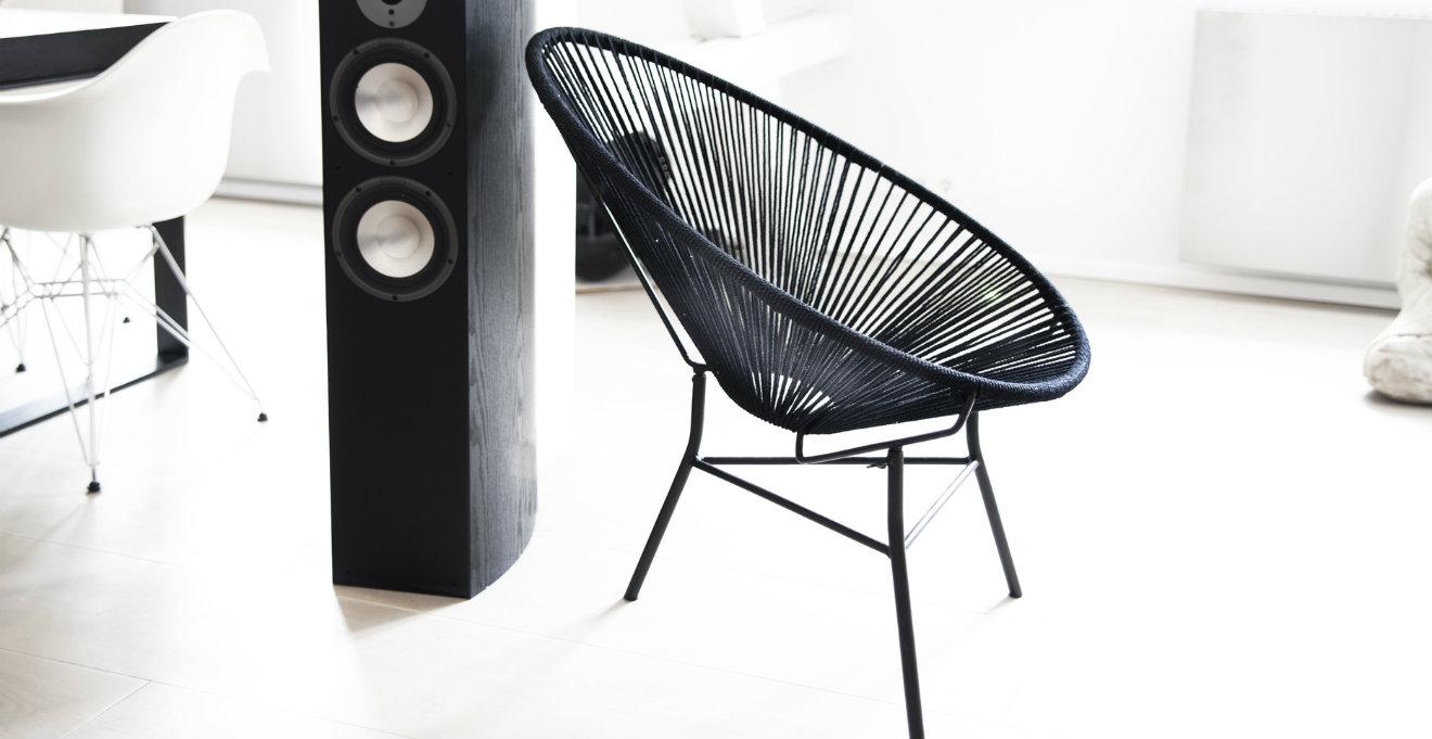 Fauteuil design noir