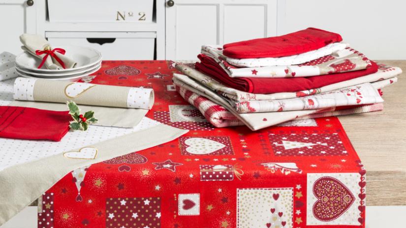 nappe rouge en coton