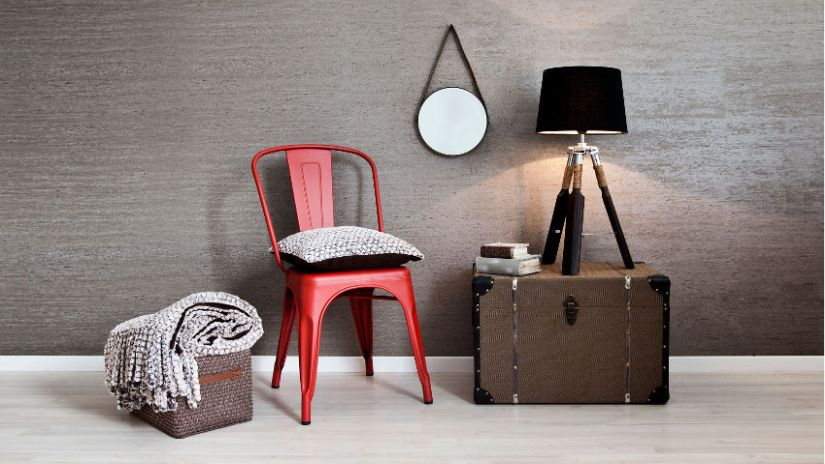 Chaise rouge vintage