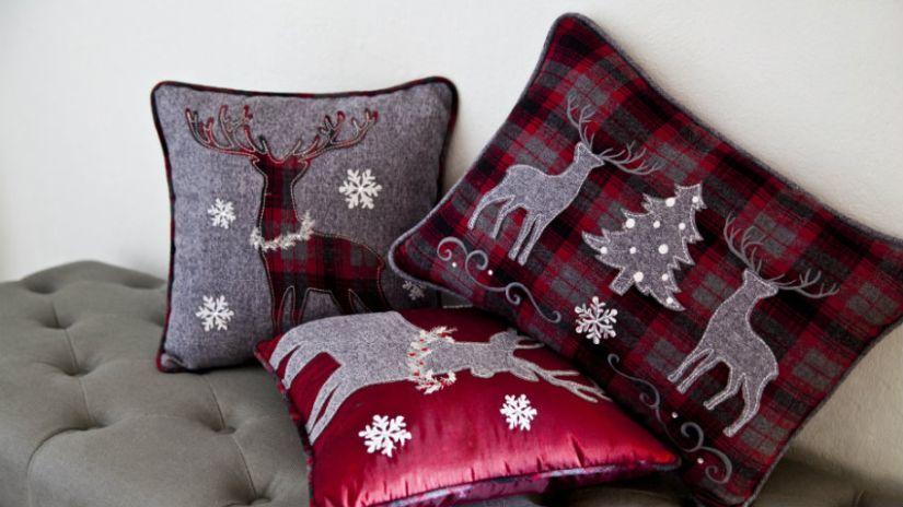 Housse de coussin de Noël rouge