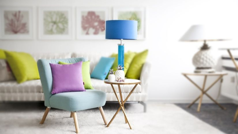 Lampe bleu turquoise en verre
