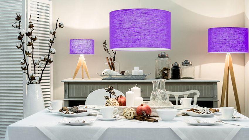 Lampe violette