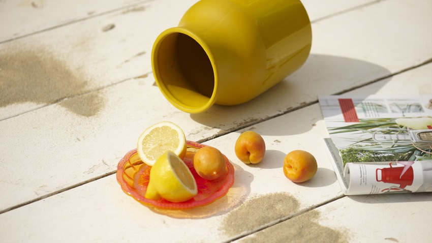 Assiette orange