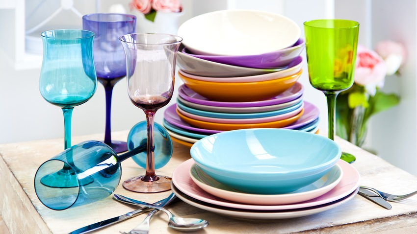 Assiette turquoise