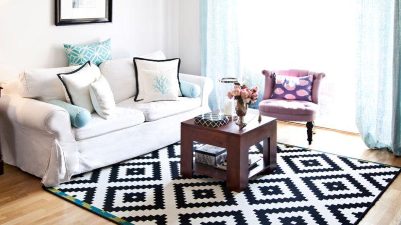 Trouvez votre tapis rectangulaire westwing - Tapis noir et blanc scandinave ...
