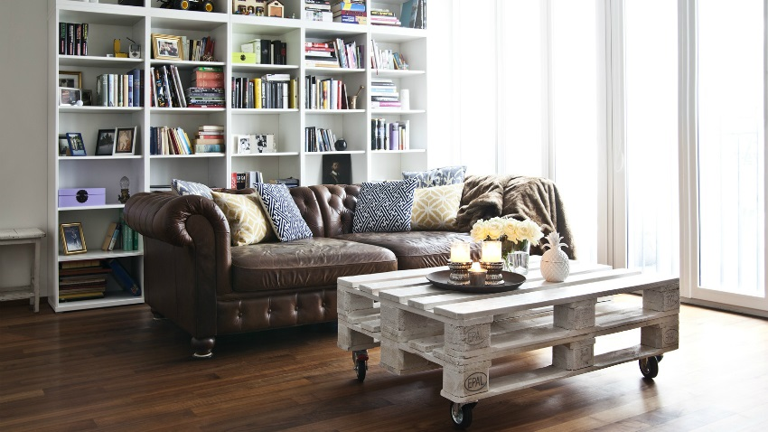 Chesterfield Cuir Decoration Idee