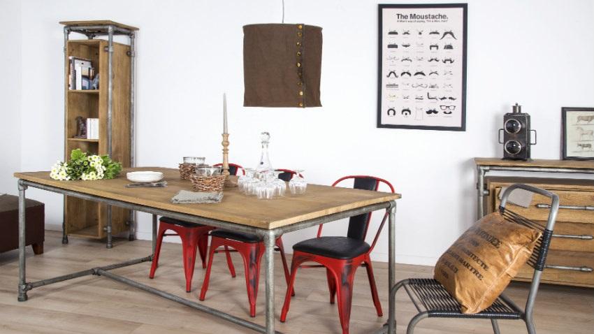 Tavolo allungabile in legno grezzo
