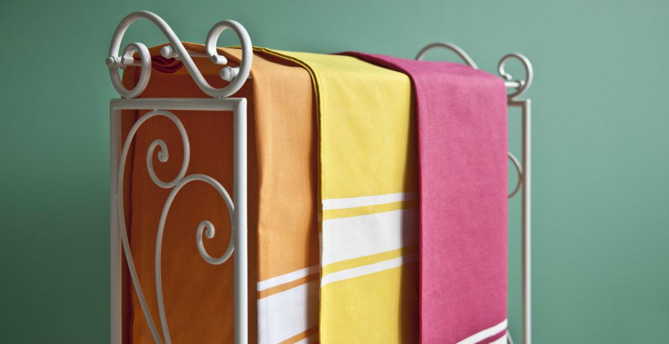 Porta asciugamani in ferro battuto stile vintage dalani - Porta tv ferro battuto ...