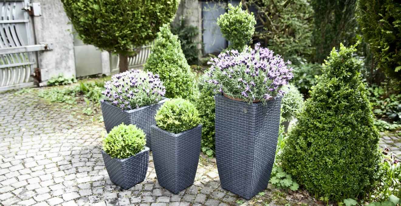 Portapiante eleganti e funzionali accessori outdoor for Portavasi da interno design