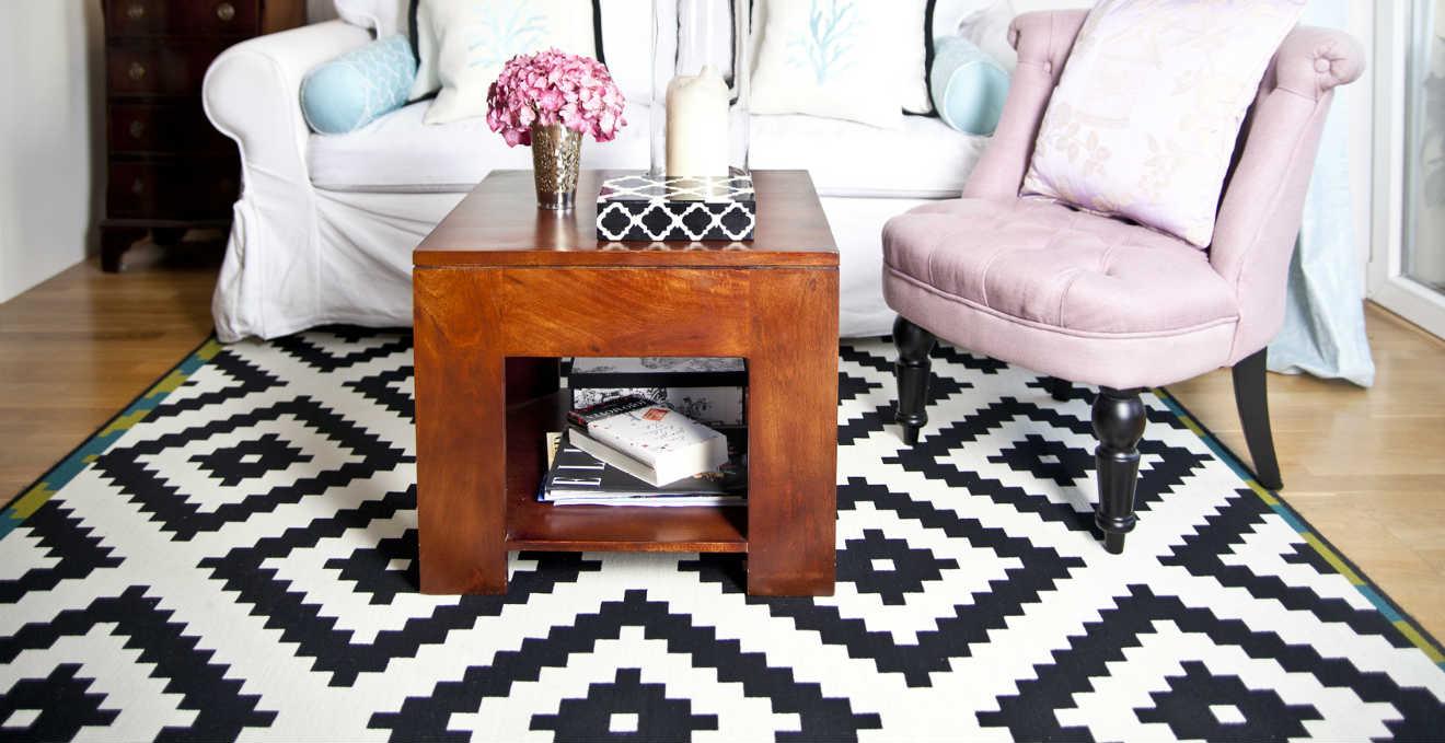 dalani | tappeto nero: minimalismo black - Tappeto Soggiorno Nero