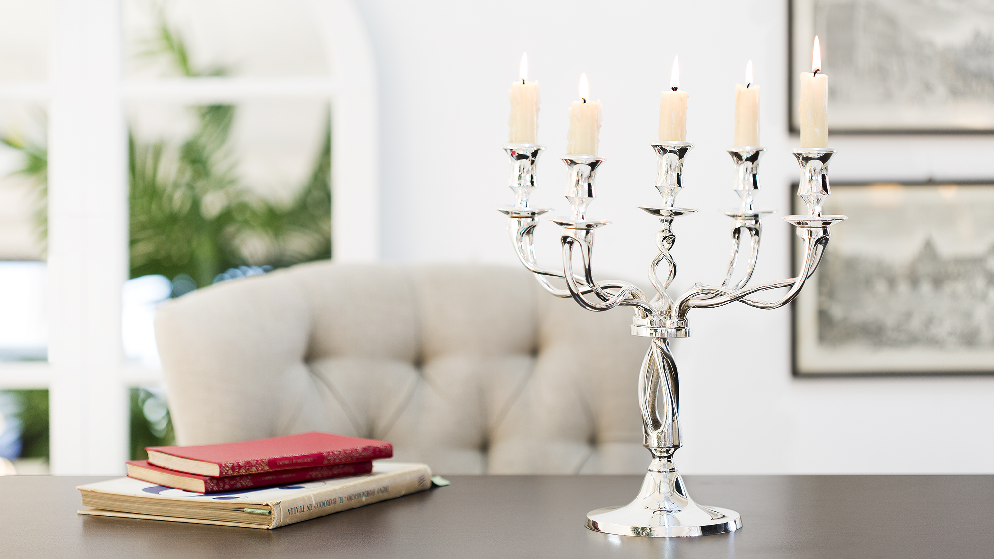 candelabri in argento splendore a centrotavola dalani e