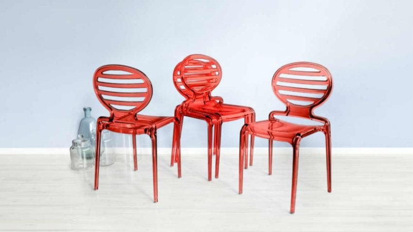 Sedie rosse per una seduta audace e accattivante dalani for Sedie rosse cucina