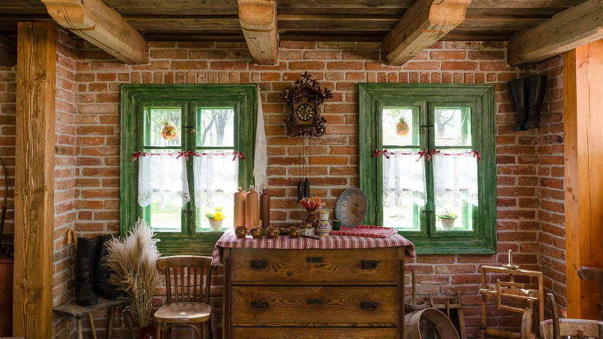 Tende a vetro dettagli preziosi alla finestra dalani e - Tende rustiche per cucina ...