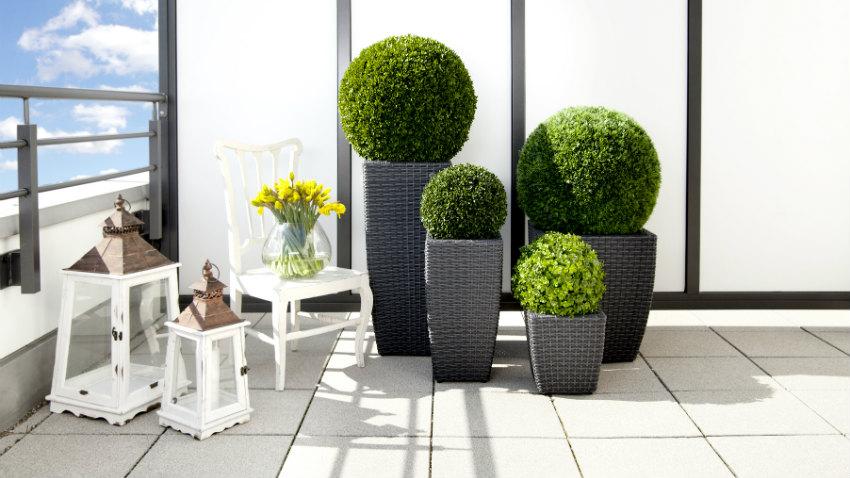 Vasi alti da esterno per un outdoor elegante dalani e for Vasi esterno