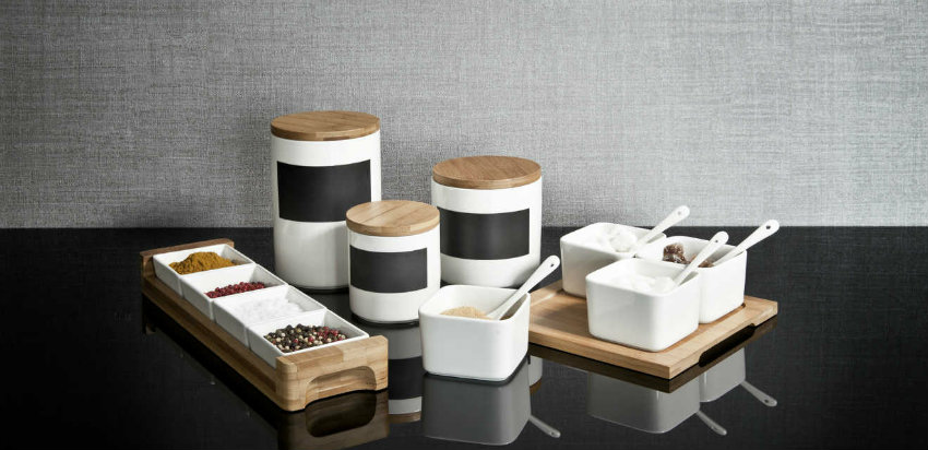 Barattoli in ceramica per la cucina elegante dalani e ora westwing - Barattoli cucina colorati ...
