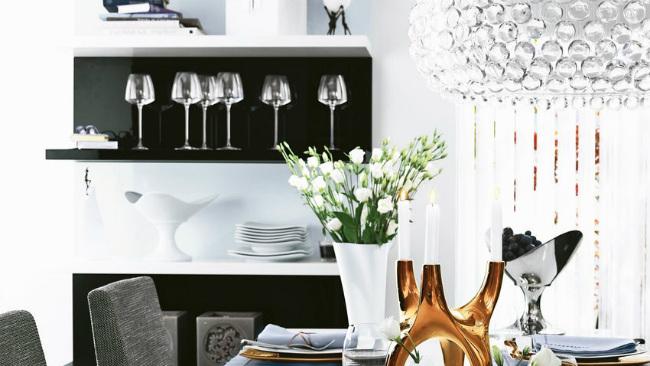 cucine di lusso tavolo laccato bianco