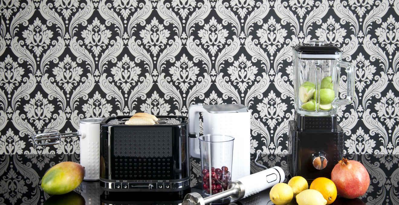Carta da parati adesiva per cucina: pareti colorate - Dalani e ora ...