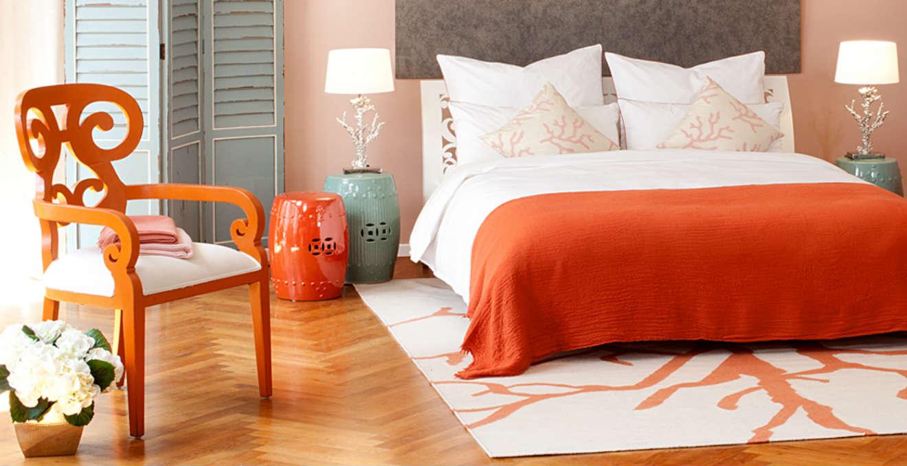 Camera da letto arancione: allegria nella zona notte - Dalani e ora ...