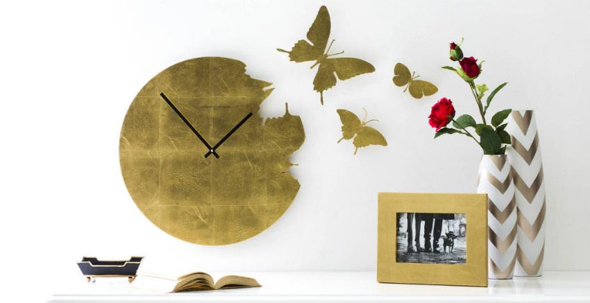 Orologi da parete con farfalle aria di primavera dalani for Immagini orologi da parete moderni