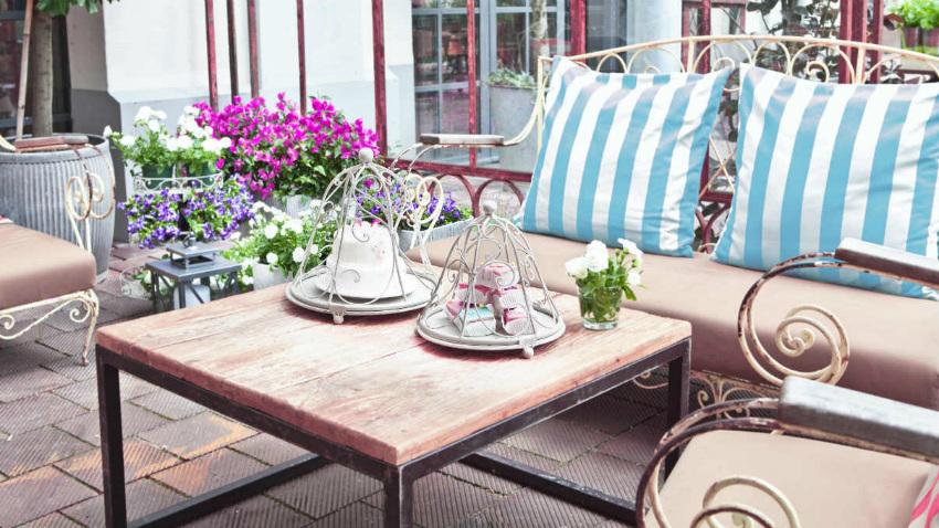 Tavoli Da Terrazzo In Ferro : Tavolini da esterno in ferro battuto tavolino tondo da esterno