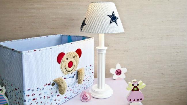 camerette per neonati lampada organizer