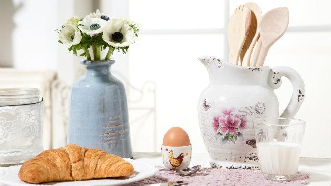 cucine provenzali mestoli caraffa fiori croissant uovo