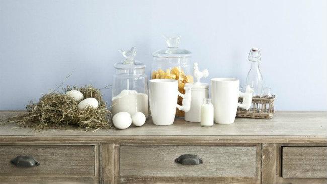 cucine provenzali tazze vasetti