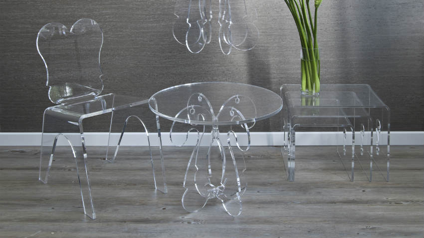 Tavoli in policarbonato design trasparente dalani e ora - Mobili in cristallo ...