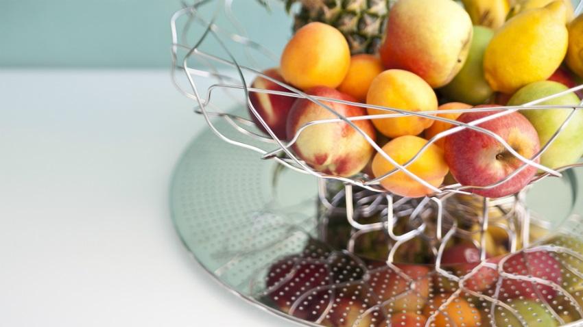 Portafrutta in acciaio
