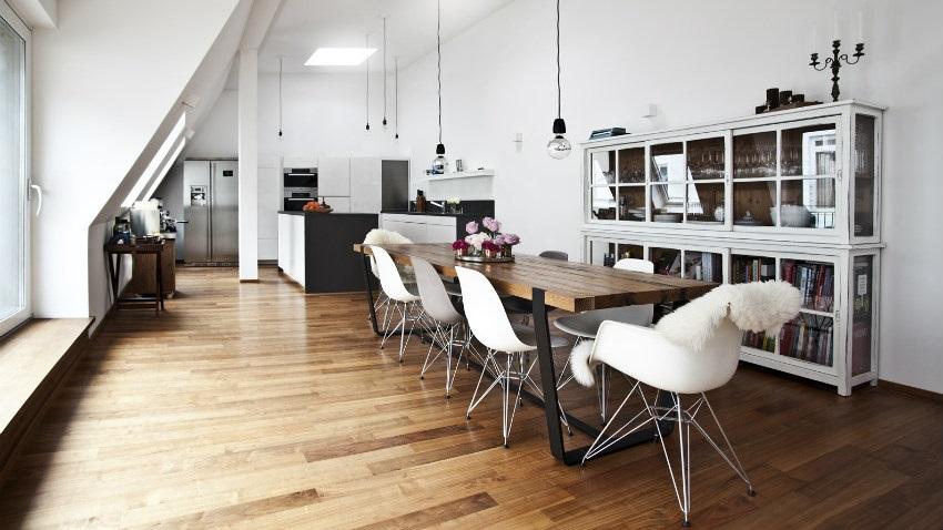 Sala da pranzo moderna contemporanea e di stile - Tende sala moderna ...