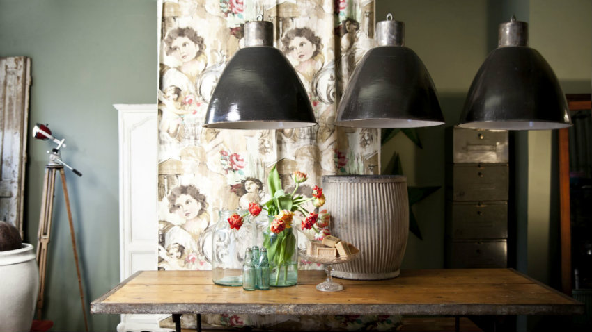Plafoniere Industriali Vintage : Lampade industriali a sospensione luce vintage dalani e ora