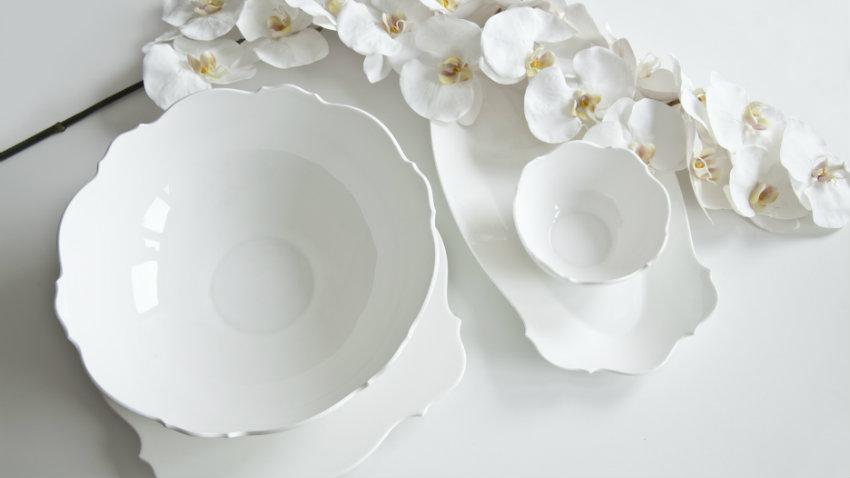 Piatti in porcellana moderni porta lo stile a tavola - Piatti da cucina moderni ...