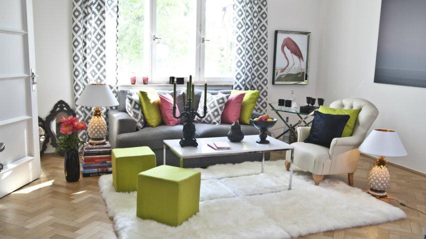 parete attrezzata colorata delizia per il soggiorno