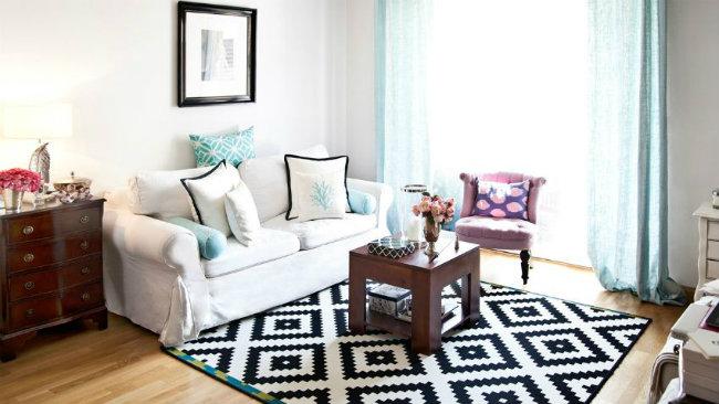 idee per la casa zona living divano tappeto tavolino
