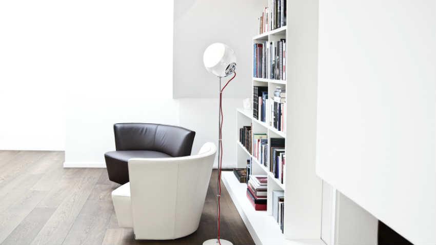 Libreria laccata bianca