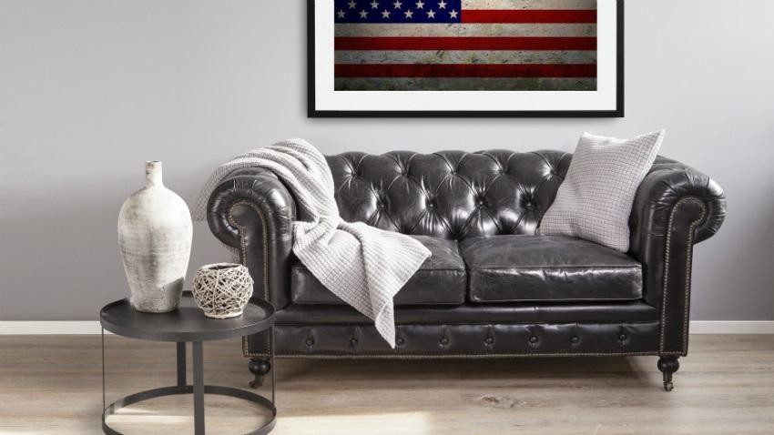 Tappeto con bandiera americana