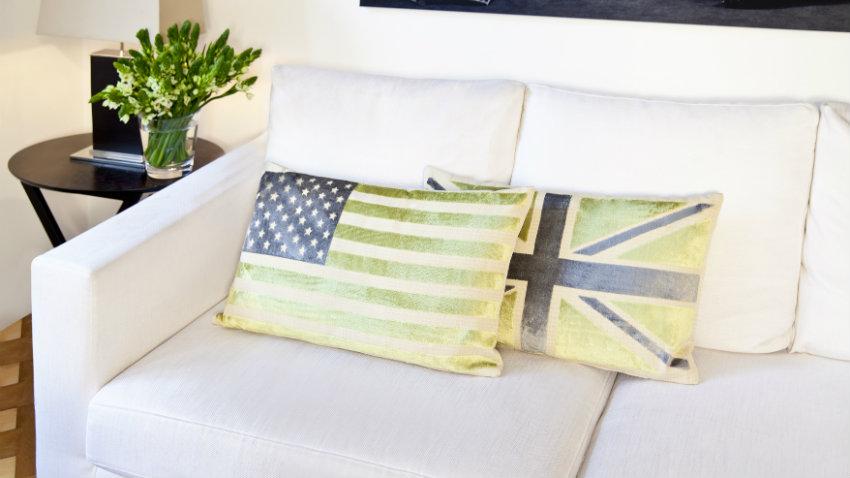 Tappeto con bandiera inglese