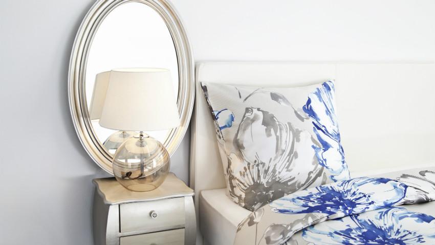 Specchio cornice argento