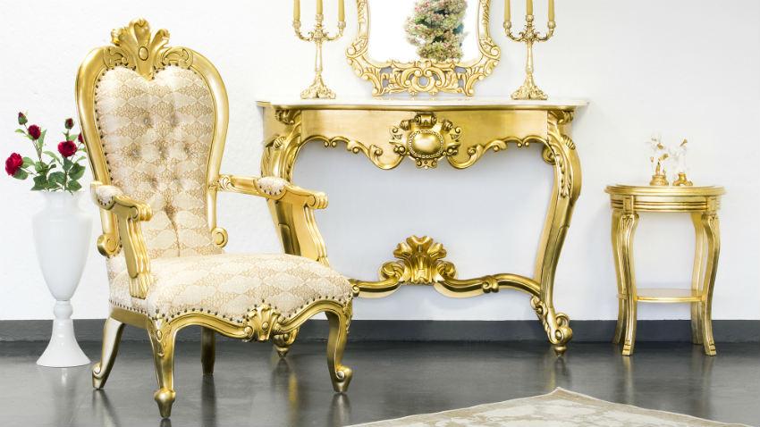 Consolle in foglia oro: eleganza barocca - Dalani e ora Westwing