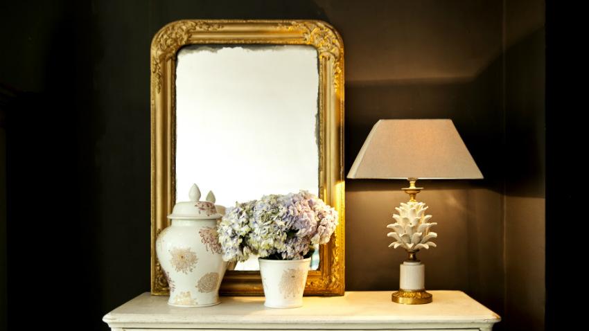 Specchio cornice dorata